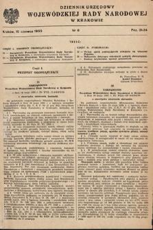 Dziennik Urzędowy Wojewódzkiej Rady Narodowej w Krakowie. 1955, nr6 |PDF|