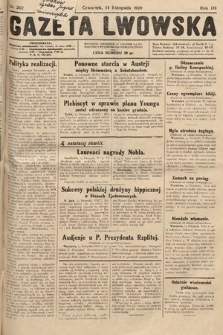 Gazeta Lwowska. 1929, nr262