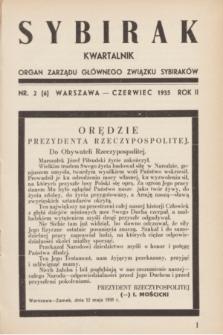 Sybirak : organ Zarządu Głównego Związku Sybiraków.R.2, nr 2 (czerwiec 1935) = nr 6