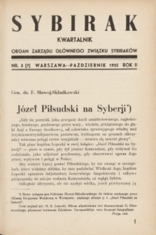 Sybirak : organ Zarządu Głównego Związku Sybiraków.R.2, nr 3 (październik 1935) = nr 7