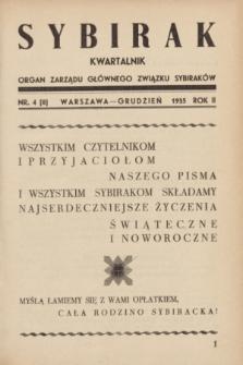 Sybirak : organ Zarządu Głównego Związku Sybiraków.R.2, nr 4 (grudzień 1935) = nr 8