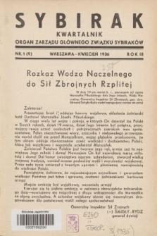 Sybirak : organ Zarządu Głównego Związku Sybiraków.R.3, nr 1 (kwiecień 1936) = nr 9