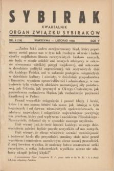 Sybirak : organ Związku Sybiraków.R.5, nr 4 (listopad 1938) = nr 16