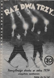 Raz, Dwa, Trzy : ilustrowany kuryer sportowy. 1934, nr1
