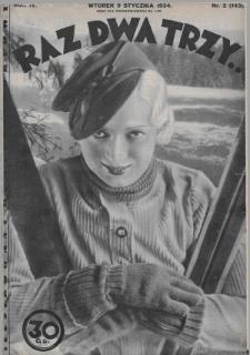 Raz, Dwa, Trzy : ilustrowany kuryer sportowy. 1934, nr2
