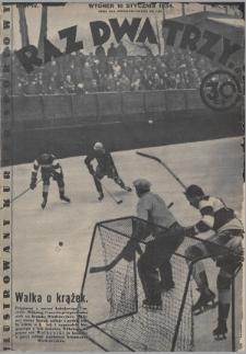 Raz, Dwa, Trzy : ilustrowany kuryer sportowy. 1934, nr3