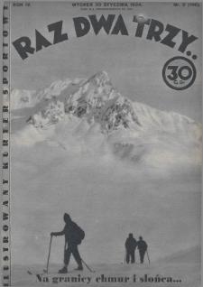 Raz, Dwa, Trzy : ilustrowany kuryer sportowy. 1934, nr5