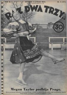 Raz, Dwa, Trzy : ilustrowany kuryer sportowy. 1934, nr6
