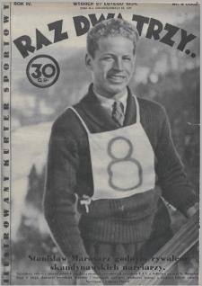 Raz, Dwa, Trzy : ilustrowany kuryer sportowy. 1934, nr9