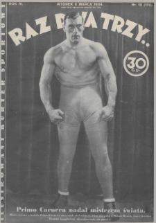 Raz, Dwa, Trzy : ilustrowany kuryer sportowy. 1934, nr10