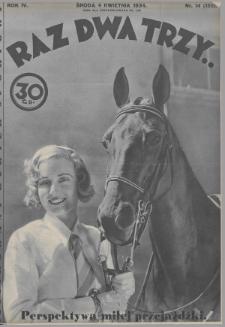 Raz, Dwa, Trzy : ilustrowany kuryer sportowy. 1934, nr14