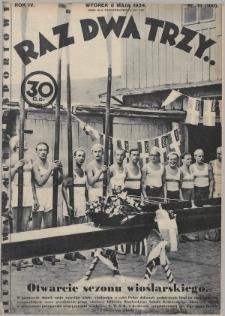 Raz, Dwa, Trzy : ilustrowany kuryer sportowy. 1934, nr19