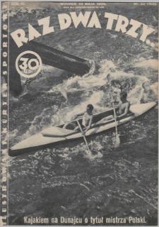 Raz, Dwa, Trzy : ilustrowany kuryer sportowy. 1934, nr22