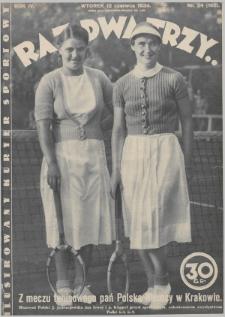 Raz, Dwa, Trzy : ilustrowany kuryer sportowy. 1934, nr24