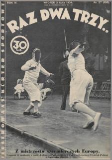 Raz, Dwa, Trzy : ilustrowany kuryer sportowy. 1934, nr27