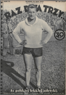 Raz, Dwa, Trzy : ilustrowany kuryer sportowy. 1934, nr28