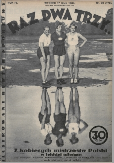Raz, Dwa, Trzy : ilustrowany kuryer sportowy. 1934, nr29