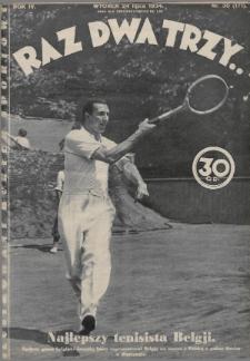Raz, Dwa, Trzy : ilustrowany kuryer sportowy. 1934, nr30