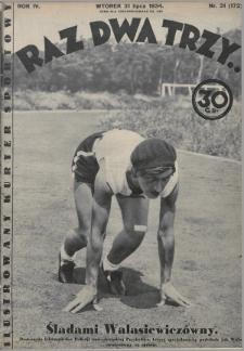 Raz, Dwa, Trzy : ilustrowany kuryer sportowy. 1934, nr31