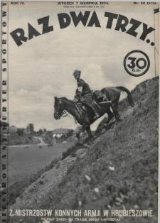 Raz, Dwa, Trzy : ilustrowany kuryer sportowy. 1934, nr32