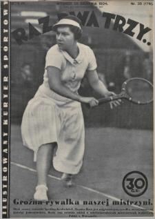 Raz, Dwa, Trzy : ilustrowany kuryer sportowy. 1934, nr35