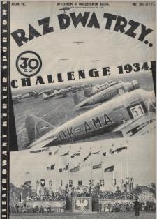 Raz, Dwa, Trzy : ilustrowany kuryer sportowy. 1934, nr36