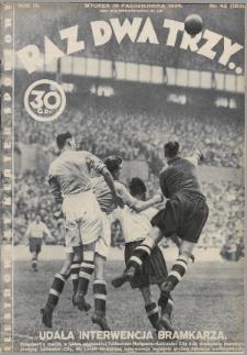 Raz, Dwa, Trzy : ilustrowany kuryer sportowy. 1934, nr42