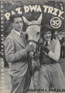 Raz, Dwa, Trzy : ilustrowany kuryer sportowy. 1934, nr43