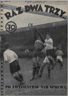 Raz, Dwa, Trzy : ilustrowany kuryer sportowy. 1934, nr50