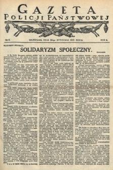 Gazeta Policji Państwowej. 1922, nr 5 |PDF|