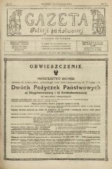 Gazeta Policji Państwowej. 1920, nr 17 |PDF|