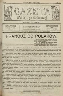 Gazeta Policji Państwowej. 1920, nr 34 |PDF|