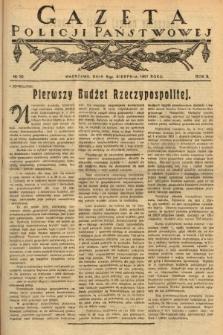 Gazeta Policji Państwowej. 1921, nr32  PDF 