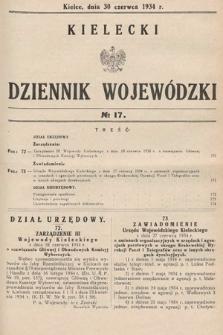 Kielecki Dziennik Wojewódzki. 1934, nr17 |PDF|