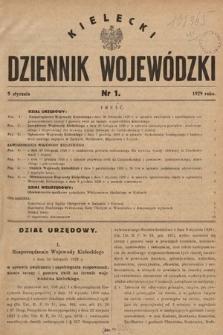Kielecki Dziennik Wojewódzki. 1929, nr1 |PDF|