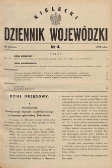 Kielecki Dziennik Wojewódzki. 1929, nr4 |PDF|