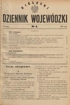 Kielecki Dziennik Wojewódzki. 1929, nr6  PDF 