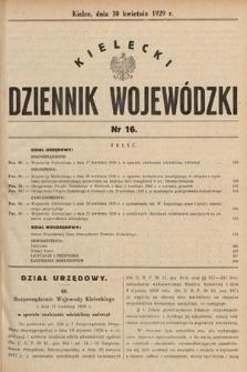 Kielecki Dziennik Wojewódzki. 1929, nr16 |PDF|