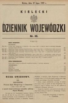 Kielecki Dziennik Wojewódzki. 1929, nr30 |PDF|