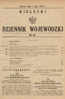 Kielecki Dziennik Wojewódzki. 1939, nr12 |PDF|