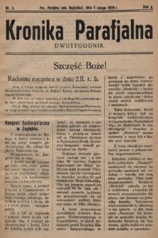 Kronika Parafjalna : dwutygodnik. 1929, nr3 |PDF|