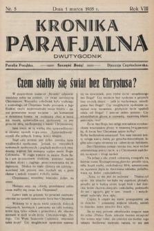 Kronika Parafjalna : dwutygodnik. 1935, nr5  PDF 