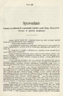 [Kadencja I, sesja III, al.53] Alegaty do Sprawozdań Stenograficznych z Trzeciej Sesyi Sejmu Galicyjskiego z roku 1865-1866. Alegat53