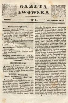 Gazeta Lwowska. 1843, nr 4