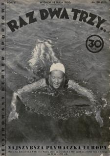 Raz, Dwa, Trzy : ilustrowany kuryer sportowy. 1935, nr20