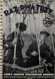 Raz, Dwa, Trzy : ilustrowany kuryer sportowy. 1935, nr39