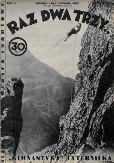 Raz, Dwa, Trzy : ilustrowany kuryer sportowy. 1935, nr40