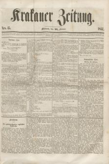 Krakauer Zeitung.[Jg.1], Nro. 45 (25 Februar 1857)