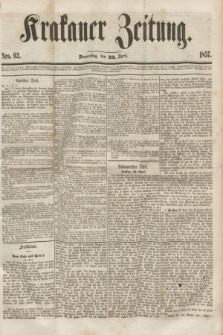 Krakauer Zeitung.[Jg.1], Nro. 92 (23 April 1857) + dod.