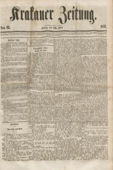 Krakauer Zeitung.[Jg.1], Nro. 93 (24 April 1857) + dod.
